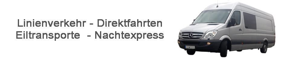 Eilfahrten - Direktfahrten - Nachtexpress - Linienverkehr
